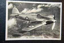Hawker Hurricane  RAF Fighter  #  Vintage Action Photo Card