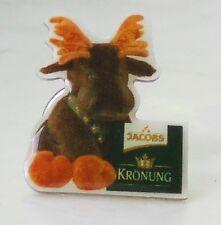 50 Stück Jacobs Kaffee Werbe-Pins - Packung Krönung mit Elch Plüschelch Pin