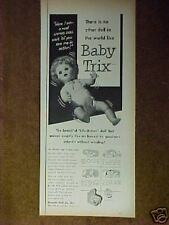 1954 Baby Trix Uneeda infant~Doll Co Life-Action Little Girls Kids Toy Promo Ad