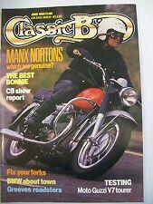Classic Bike Magazine. No. 113. June, 1989. Manx Nortons. Moto Guzzi V7 tourer.