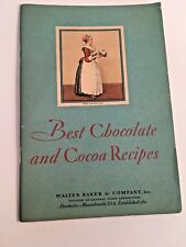 Baker Chocolate Company 1931 chocolate cocoa recipe book General Foods
