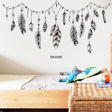 Family Feather Removable Wall Sticker Art Vinyl Decal Mural Home Bedroom Decor