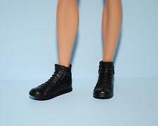 Black Stylish KEN High Top Sports Faux Lace Tennis Shoes Genuine BARBIE Fashion