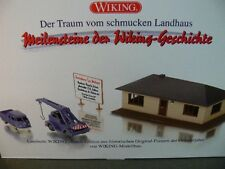 1/87 Wiking Set Fertighaus Bausatz mit Mobilkran Demag u.VW T1 Doppelkabine 0990