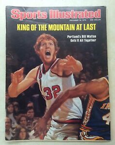 Dec 13, 1976 Sports Illustrated BILL WALTON Portland Trail Blazers! VG shape!
