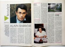 ALAIN BARRIERE => COUPURE DE PRESSE 2 PAGES 1987 / French clipping