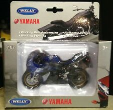 2008 Yamaha YZF-R1 Motorcycle Blue & White Welly 1/18 Scale Motorcycle