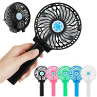 Rechargeable USB Fan Air Cooler Mini Operated Hand Held Protable No Battery J Pf