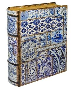 Chinese Tiles Small Storage Book Box! Looks like a book!