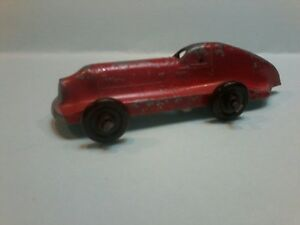 Winna toys Racing car 97mm long red paint 75%, chipped Made in AUSTRALIA 1940s