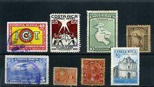 COSTA RICA, Lot of  8  TURISM.- Santamaria.-NICOYA,-   study   1900s
