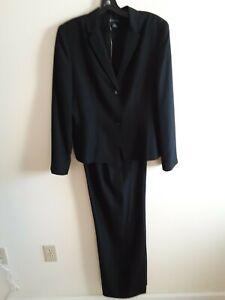 Ann Taylor women's suit black silk 2pc new 10-12