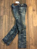PRPS 31/33 New Barracuda Mens Blue Jeans distressed faded whisker Straight