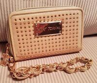 Betsey Johnson Copper Glitter Wallet Wristlet Clutch
