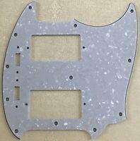 New 4 Ply Guitar Pickguard For US Mustang PAF Humbucker Pickup,White Pearl