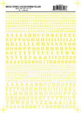 Woodland Roman Stencil/Block Letters Yellow MG754 WOOMG754