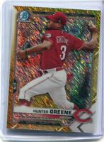 2021 Bowman Hunter Greene Chrome Gold Shimmer Refractor Parallel /50