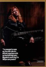 Megadeth Dave Mustaine UK 'Guitarist' Interview Clipping ECLIPSED