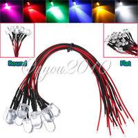 12V 20cm DC 3/5/10mm Pre Wired LED Lamp Light Bulb Emitting Diode White,Red,Pink