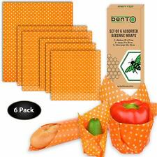 Beeswax Food Wrap Reusable Organic Eco Friendly All Natural Food Savers