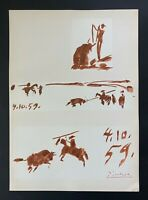 PABLO PICASSO + SIGNED SUPERB 1961 TOROS Y TOREROS PRINT + LIST