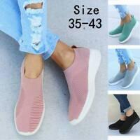 Women's Sport Knit Sneakers Breathable Walking Slip-On Running Sock Shoes Casual