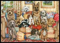 Gathering on the Couch - Chart Counted Cross Stitch Pattern Needlework Xstitch
