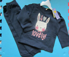 Benetton Toddler navy organic cotton jogger outfit, sweatshirt+bottoms 2 y, NEW
