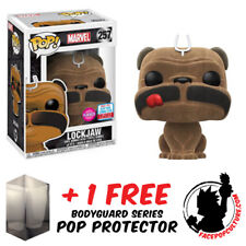 FUNKO POP MARVEL LOCKJAW FLOCKED NYCC 2017 EXCLUSIVE + FREE POP PROTECTOR