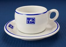 Zim Lines Israel Shipping Steamship Restaurant Ware Cup & Saucer Circa 1960s-70s