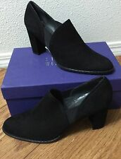 NEW $425 Stuart Weitzman Corral Suede Bootie black pumps ankle boots shoe.SZ:9