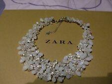 Zara Ethno mega statement Kette necklace boho top weiss Steine selten Hochzeit