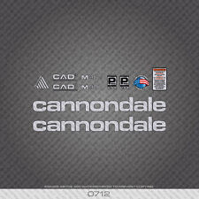 0712 Cannondale M900 Bicycle Stickers - Decals - Transfers - Silver