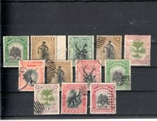 North Borneo 12pc old stamps collection used