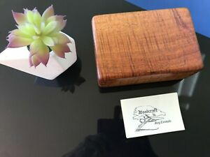 Hawaiian Koa Wood Jewellery Box