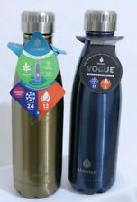 2 Manna Vogue 17oz Stainless Steel Double Wall Water Bottle Silver - Blue