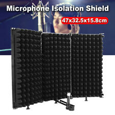 Studio Microphone Isolation Shield Foam Panel Recording Soundproof Sound Filter