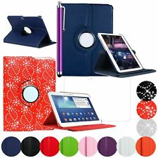 "Rotating Bling & Plain Case Cover For Samsung Galaxy Tab 3 10.1"" P5200 P5210"