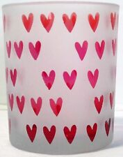 Yankee Candle Votive Holder V/H Dreaming of Love Hearts Valentine's Day Red Pink