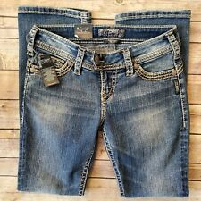 """Silver Tuesday 16 1/2"""" Low Rise Boot Cut Jeans Petite NEW * TAG SIZE 4P / SHORT"""