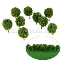 30Pcs 1:100 Scale Model Trees Miniature Landscape Scenery Train Railways Trees