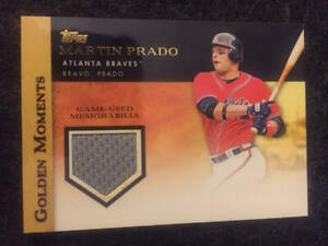 2012 Topps Golden Moments Martin Prado Game Used Jersey Card Braves