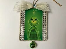 Grinch Christmas ornament, handcrafted wood, green ornaments, item #8D
