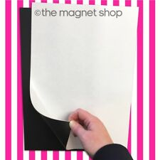 2 A4 Self Adhesive Magnetic Sheets 0.85mm Strong Flexible Car Sign Die Storage