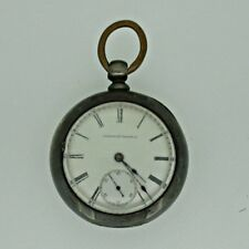 Antique 1883 Elgin National Watch Co. 18s 11j Coin Silver Pocket Watch Parts Ste