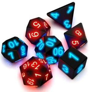 7pcs Electronic Glow LED Flashing Dice Magic Trick Pixels DND MTG Board Game