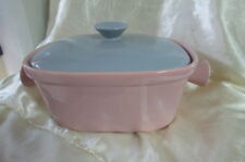 DIANNA RETRO VINTAGE LARGE CASSEROLE DISH PINK AND GREY