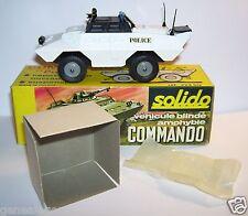 SOLIDO MILITAIRE MILITARY TANK CHAR XM 706 COMMANDO AMPHIBIE POLICE REF 224bis L