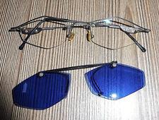 Brillengestell mit Sonnenclip aufklappbar Metall Silber Gold Braun Bohrbrille
