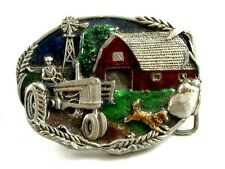 1981 Bergamont Farmer Tract Red Barn Belt Buckle 11042013